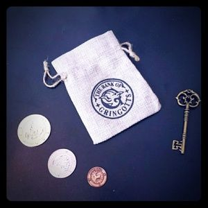 Warner Bros. Costumes - Harry Potter Gringotts Key Pouch & 3 Galleons Set